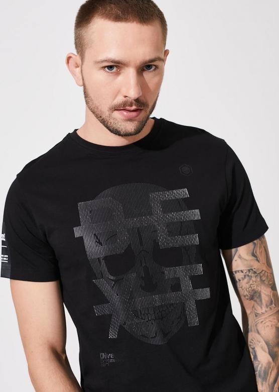 Czarny t-shirt DiverseExtreme z nadrukiem z krótkim rękawem