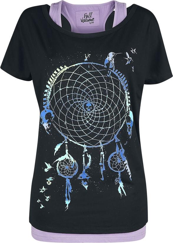 Czarny t-shirt Emp w młodzieżowym stylu z nadrukiem