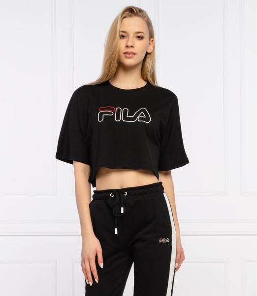Czarny t-shirt Fila w sportowym stylu