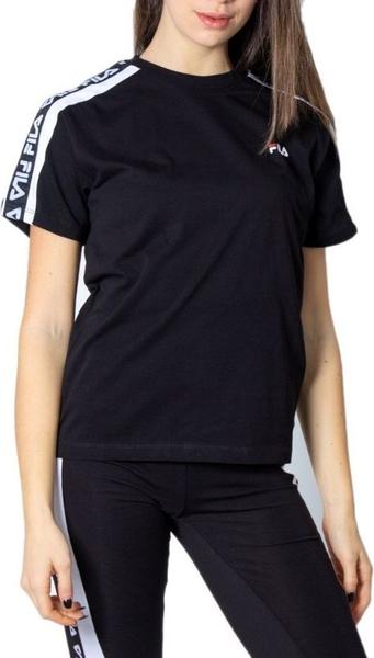 Czarny t-shirt Fila z krótkim rękawem