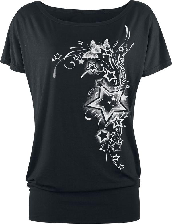 Czarny t-shirt Full Volume By Emp w młodzieżowym stylu z krótkim rękawem