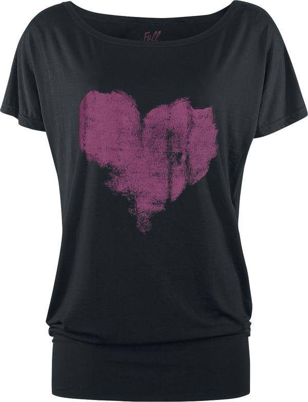 Czarny t-shirt Full Volume By Emp z krótkim rękawem w stylu casual