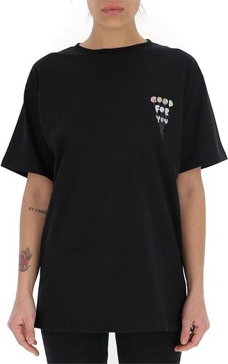 Czarny t-shirt Ireneisgood z bawełny