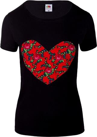 Czarny t-shirt jk collection z krótkim rękawem