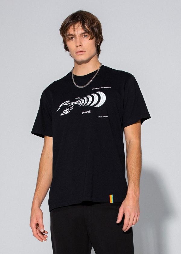 Czarny t-shirt LOCAL HEROES z bawełny
