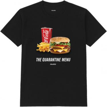 Czarny t-shirt MAJORS z nadrukiem z bawełny
