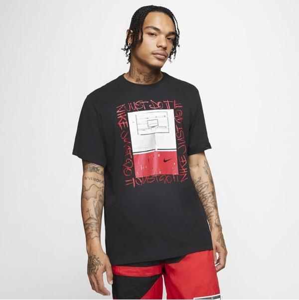 Czarny t-shirt Nike z nadrukiem