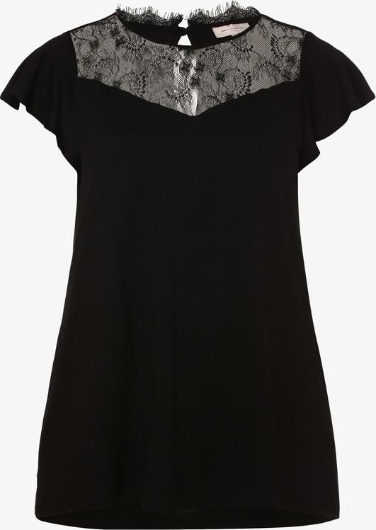 Czarny t-shirt ONLY Carmakoma z okrągłym dekoltem z krótkim rękawem