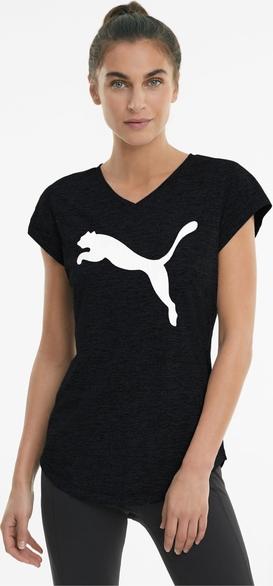 Czarny t-shirt Puma z nadrukiem z krótkim rękawem