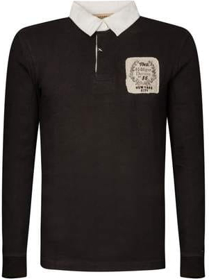 Czarny t-shirt Tommy Hilfiger w stylu casual