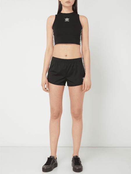 Czarny top Adidas Originals z bawełny
