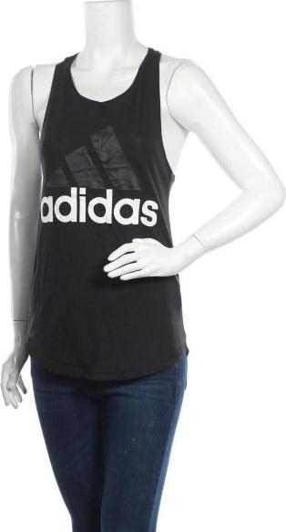Czarny top Adidas w sportowym stylu