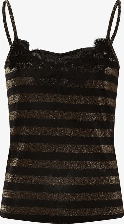 Czarny top Only w młodzieżowym stylu z dekoltem w kształcie litery v