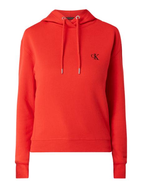 Czerwona bluza Calvin Klein w stylu casual