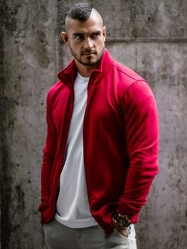 Czerwona bluza Denley z bawełny w młodzieżowym stylu