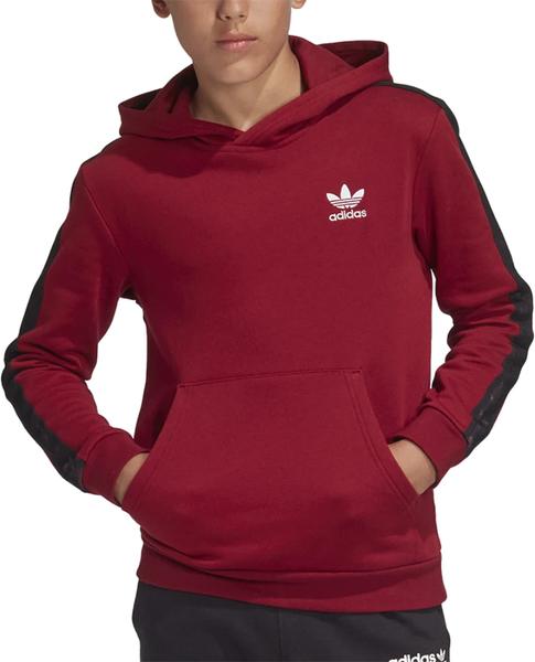 Czerwona bluza dziecięca Adidas z bawełny