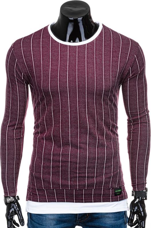 Czerwona bluza Edoti w stylu casual