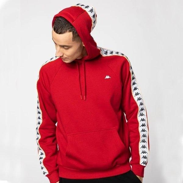 Czerwona bluza Kappa z żakardu
