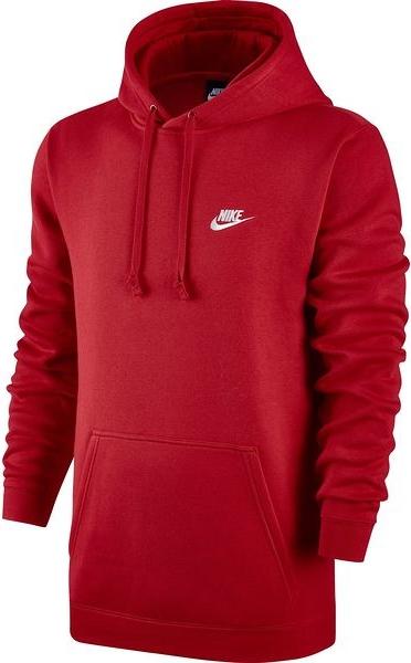 Czerwona bluza Nike w street stylu