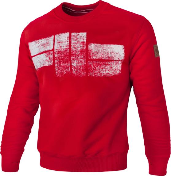 Czerwona bluza Pit Bull z weluru w młodzieżowym stylu