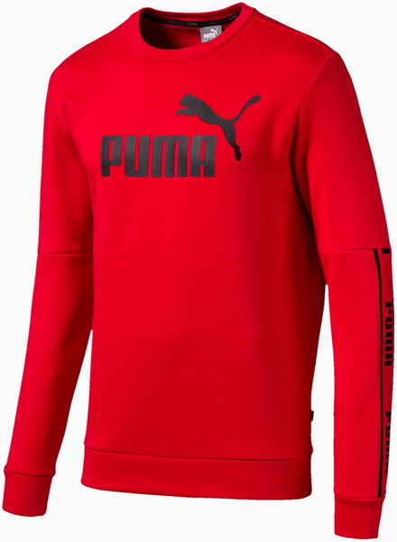 Czerwona bluza Puma w sportowym stylu z plaru