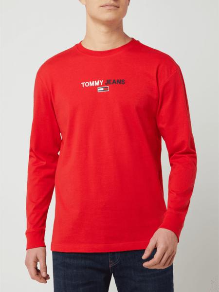 Czerwona bluza Tommy Jeans z bawełny