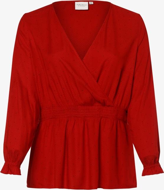 Czerwona bluzka Junarose z długim rękawem