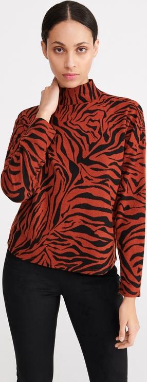 Czerwona bluzka Reserved w stylu casual