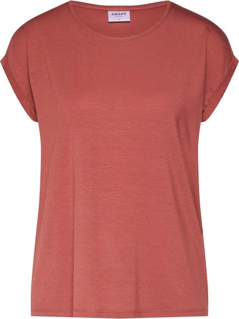 Czerwona bluzka Vero Moda z krótkim rękawem