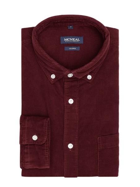 Czerwona koszula McNeal z długim rękawem ze sztruksu