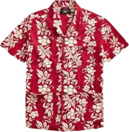 Czerwona koszula Ralph Lauren z nadrukiem w młodzieżowym stylu