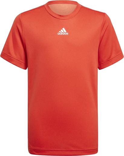 Czerwona koszulka dziecięca Adidas dla chłopców