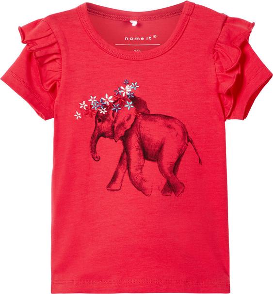 Czerwona koszulka dziecięca Name it