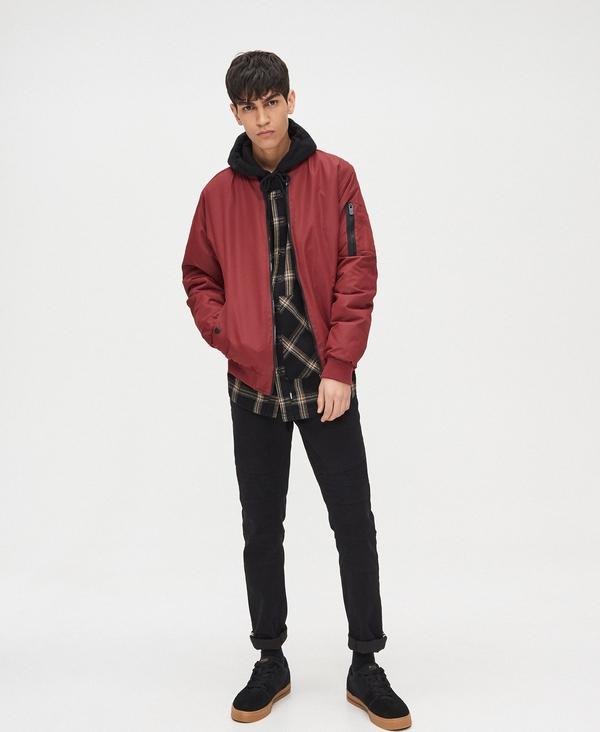 Czerwona kurtka Cropp w stylu casual