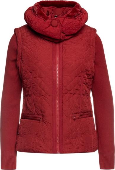 Czerwona kurtka Desigual w stylu casual krótka