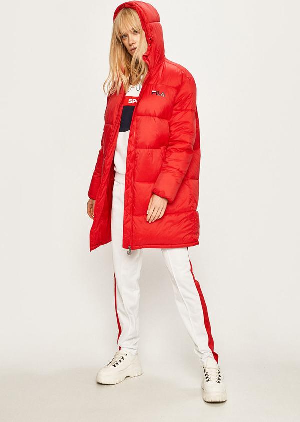 Czerwona kurtka Fila długa w stylu casual