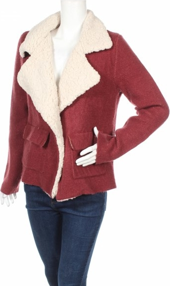 Czerwona kurtka Le temps des cerises krótka w stylu casual