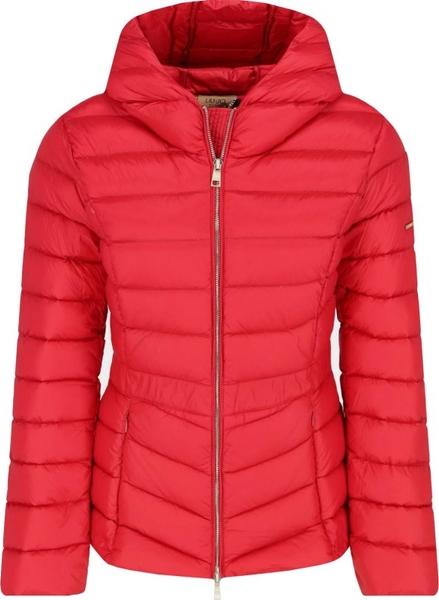 Czerwona kurtka Liu-Jo ze skóry w stylu casual