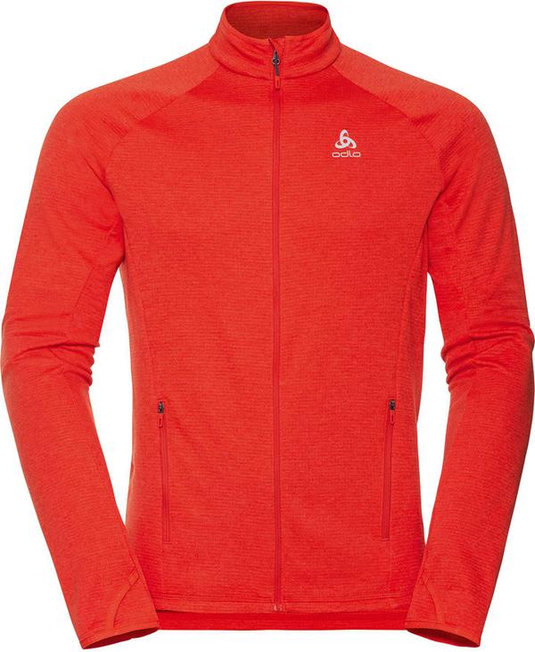 Czerwona kurtka ODLO w sportowym stylu