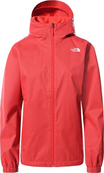 Czerwona kurtka The North Face w sportowym stylu z tkaniny