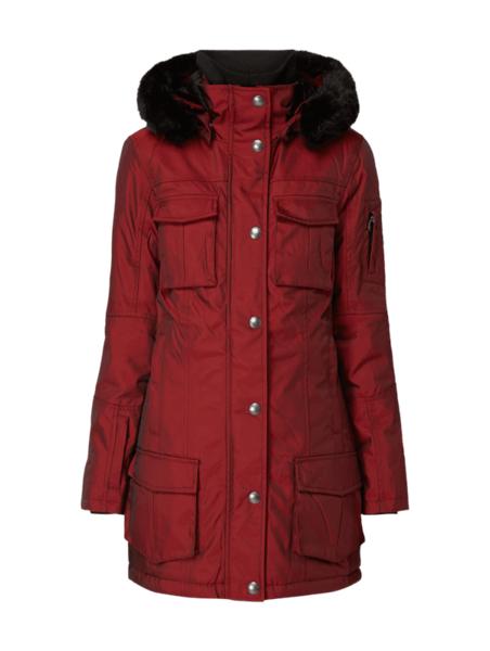 Czerwona kurtka Wellensteyn długa w stylu casual