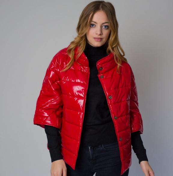 Czerwona kurtka Willsoor krótka w stylu casual
