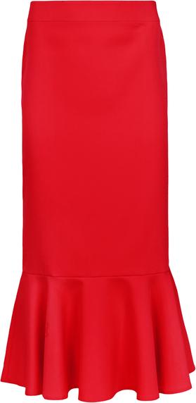 Czerwona spódnica Makover z tkaniny