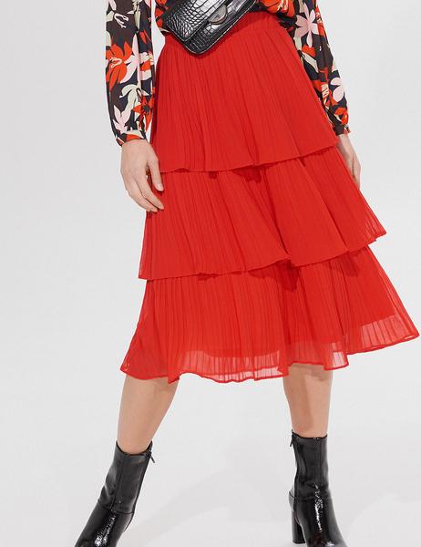 Czerwona spódnica Mohito midi