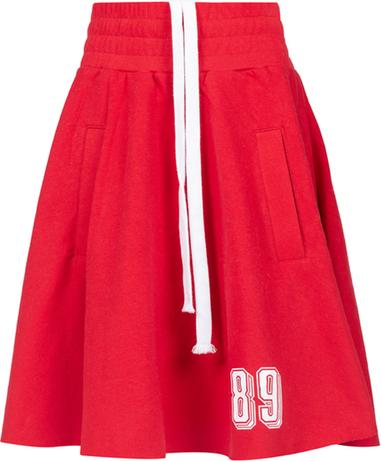 Czerwona spódniczka dziewczęca Robert Kupisz z bawełny