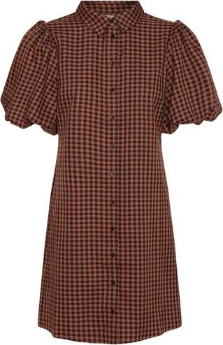 Czerwona sukienka A-view z krótkim rękawem w stylu casual