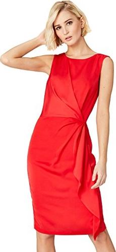 Czerwona sukienka amazon.de midi