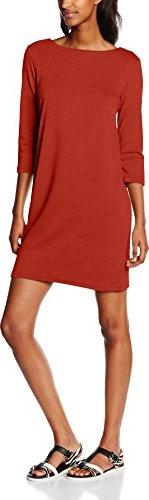 Czerwona sukienka amazon.de w stylu casual prosta z długim rękawem