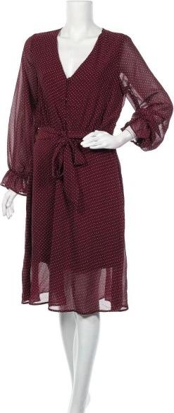 Czerwona sukienka ARTLOVE Paris z dekoltem w kształcie litery v