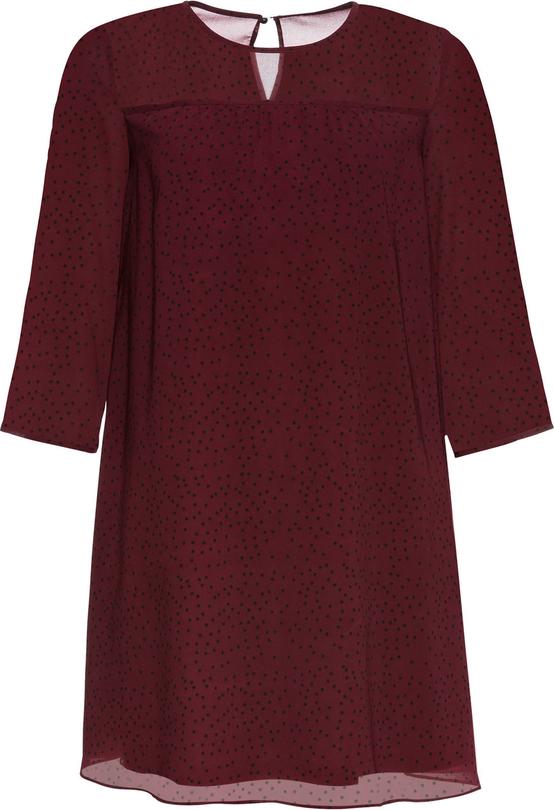 Czerwona sukienka bonprix BODYFLIRT w stylu casual z szyfonu